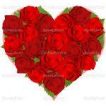 Kocaeli kalp camda kırmızı güller