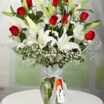 kocaeli beyaz lilyum kırmızı güller